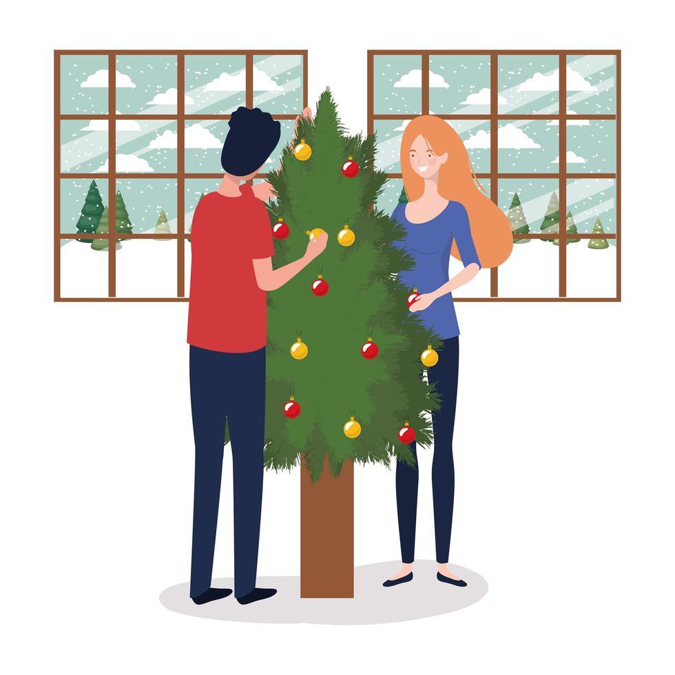 par firar jul vektor