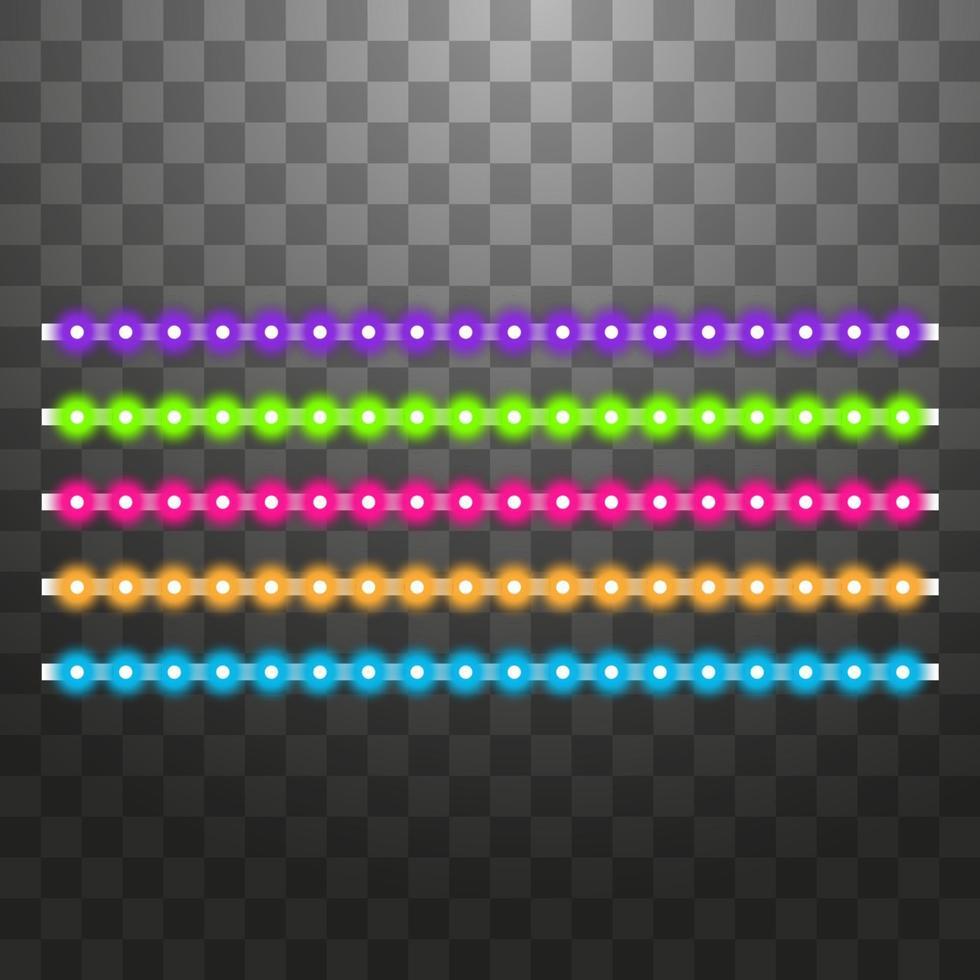 olika ledade ränder på svart bakgrund vektor