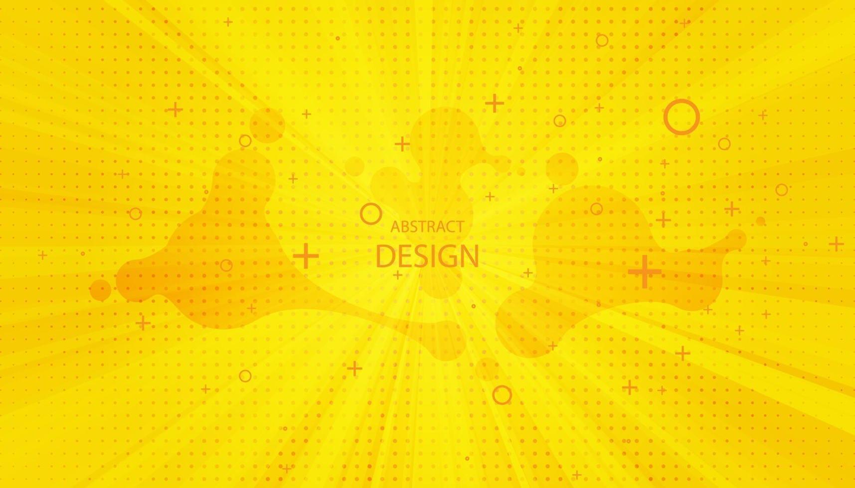 Pop-Art-Hintergrund. Retro gepunkteter Hintergrund. Vektorillustration. Halbton gelbe Pop-Art vektor