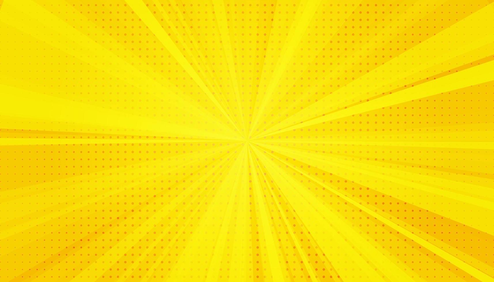gelber Comic-Pop-Art-Hintergrund. Farbverlauf Halbton Pop Art Retro-Stil vektor
