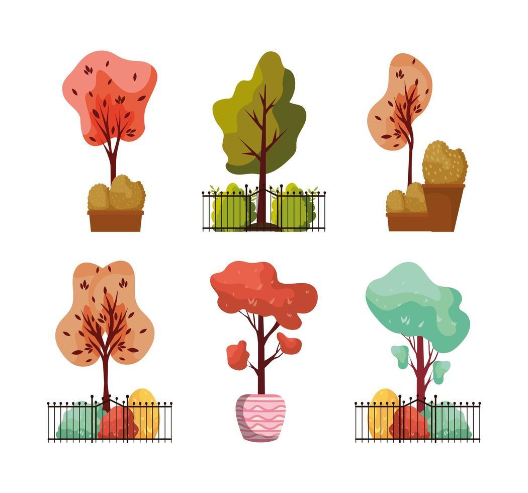 höst växtsamling vektor