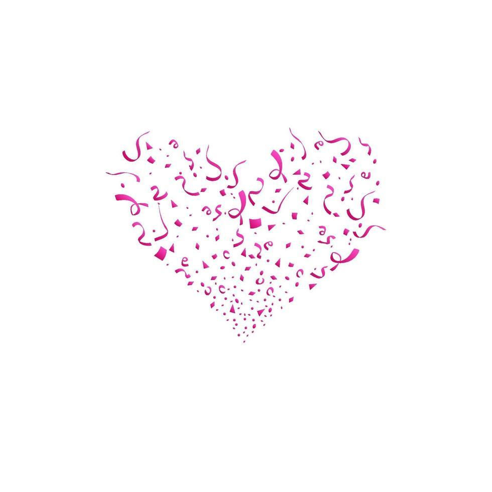 Valentinstag Konzept. Herzformen. rotes Herz Konfetti platzte isoliert vektor