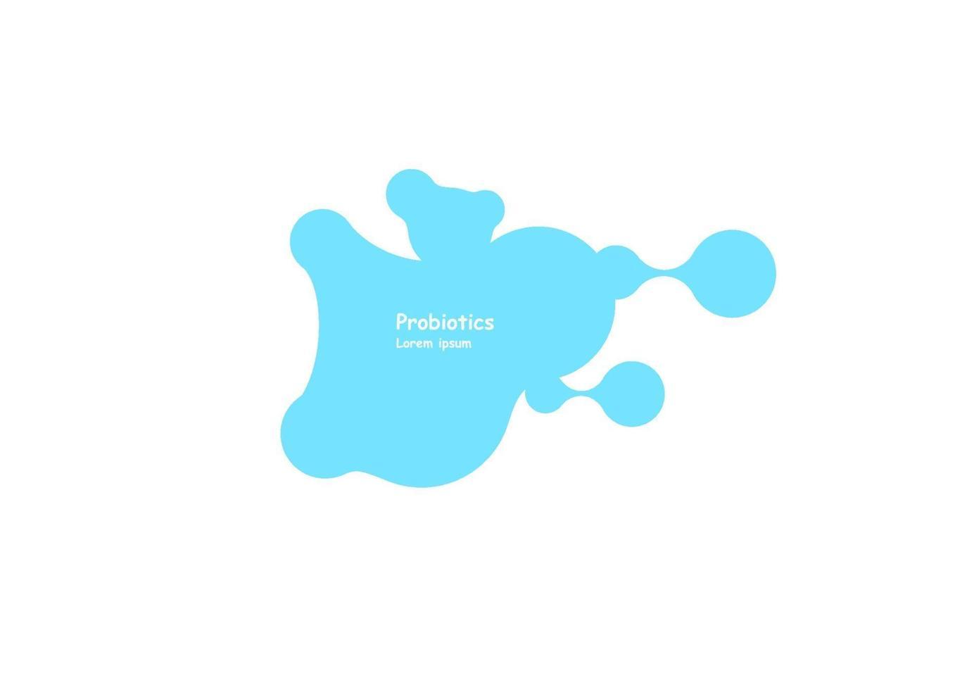 Probiotika Bakterien Vektor Design. Probiotika Bakterien Vektor Design. Konzept des Designs mit probiotischen Bakterien von Lactobacillus. Schablonendesign mit präbiotischer Zutat für gesunde Ernährung