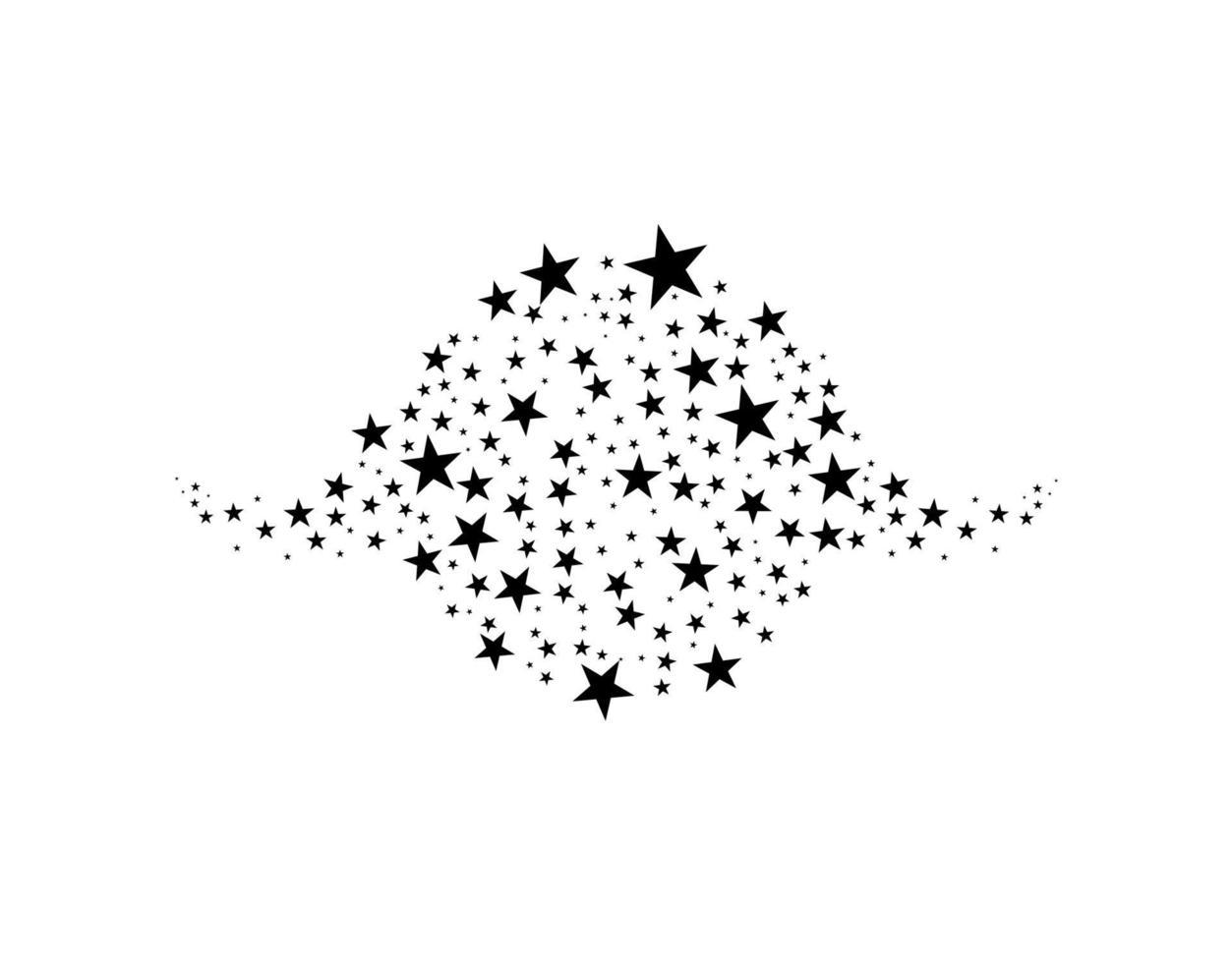 stjärnor i cirkel vektorillustration. platt ikon stjärna ram symbol vektor