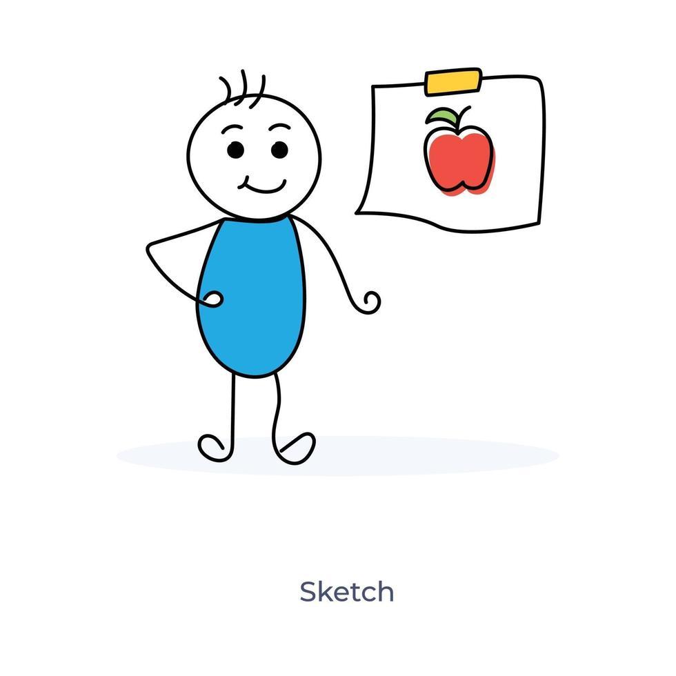 tecknad konstnär pojke vektor