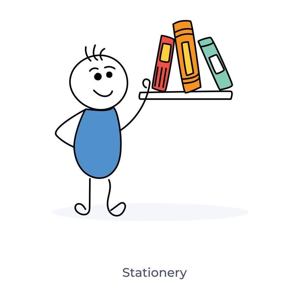 tecknad pojke och brevpapper vektor