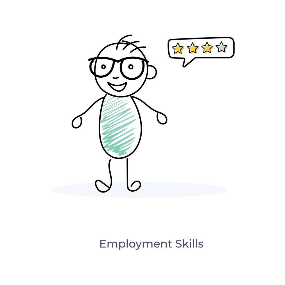 tecknade anställdas färdigheter vektor