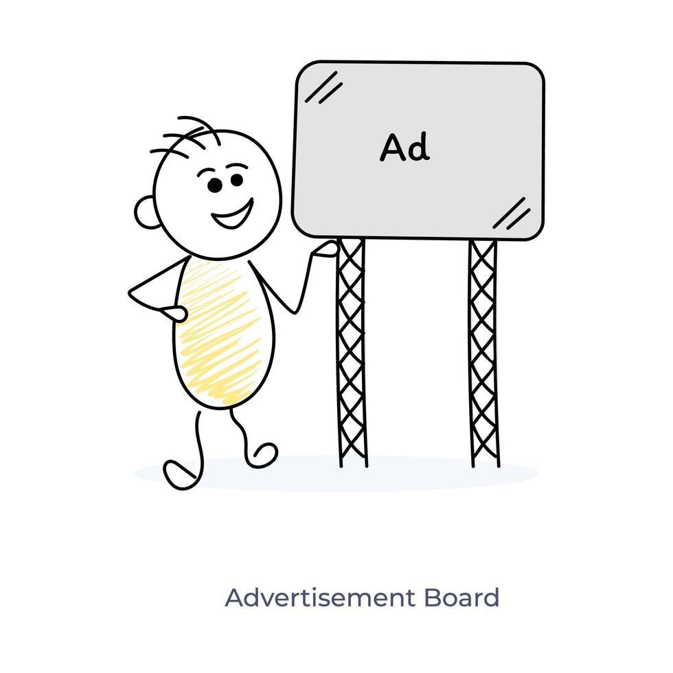 reklam efter seriefigur vektor