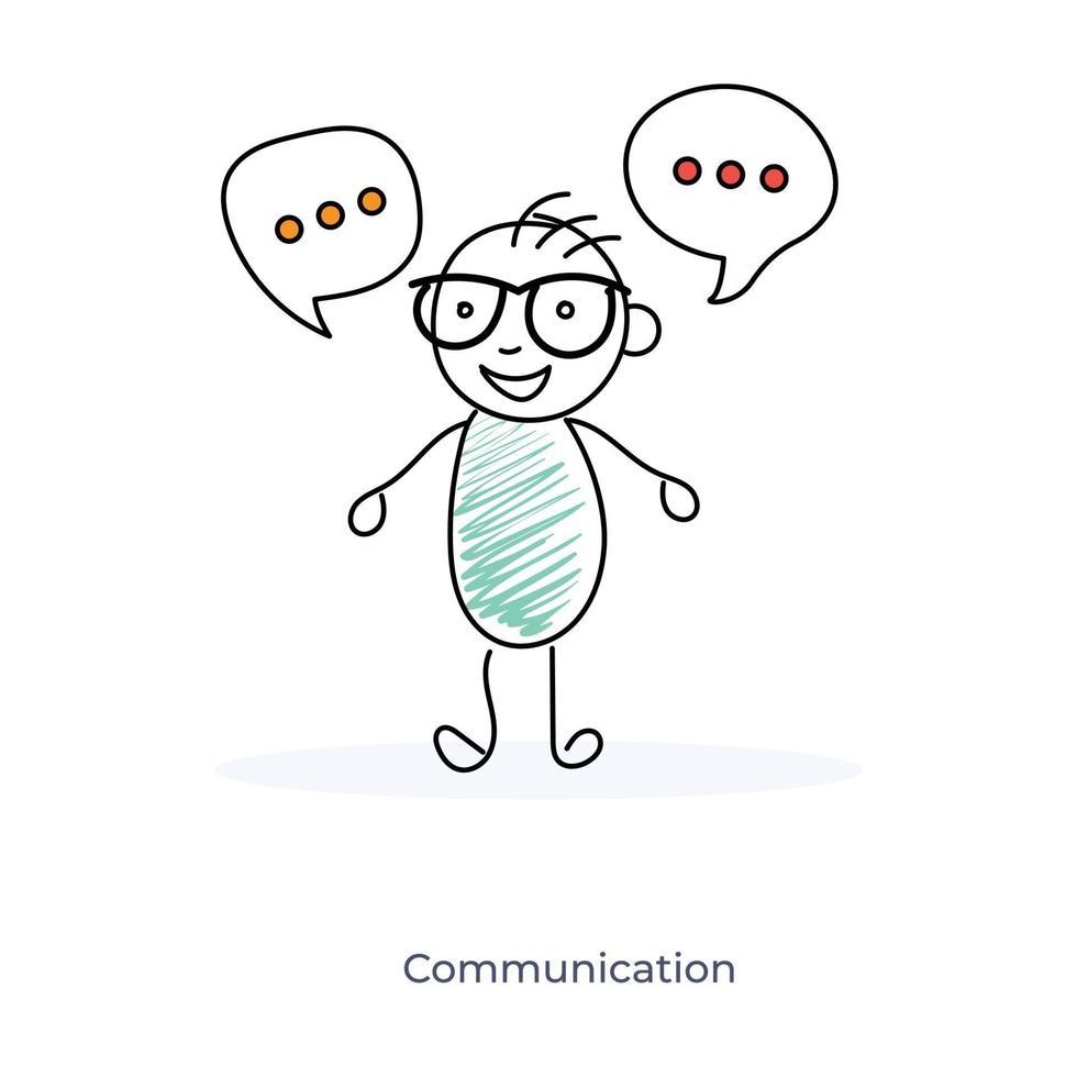 kommunicerar seriefigur vektor