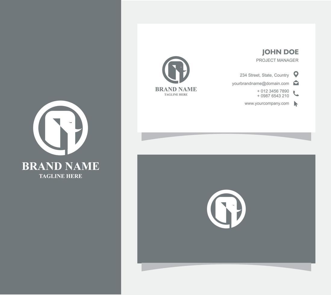 visitkort med logotypelefantvektorn, eps 10 vektor
