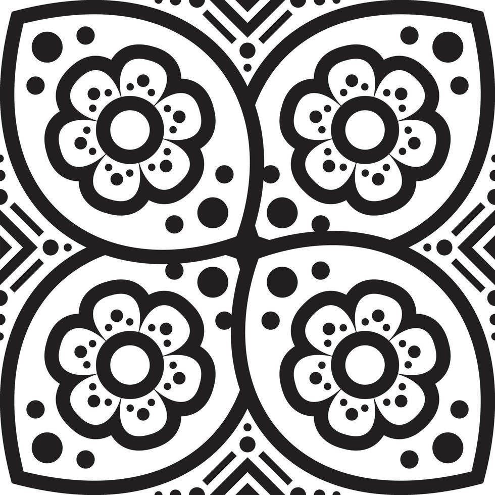 blomma mandala. vintage dekorativa element. orientaliskt mönster, vektorillustration. vektor