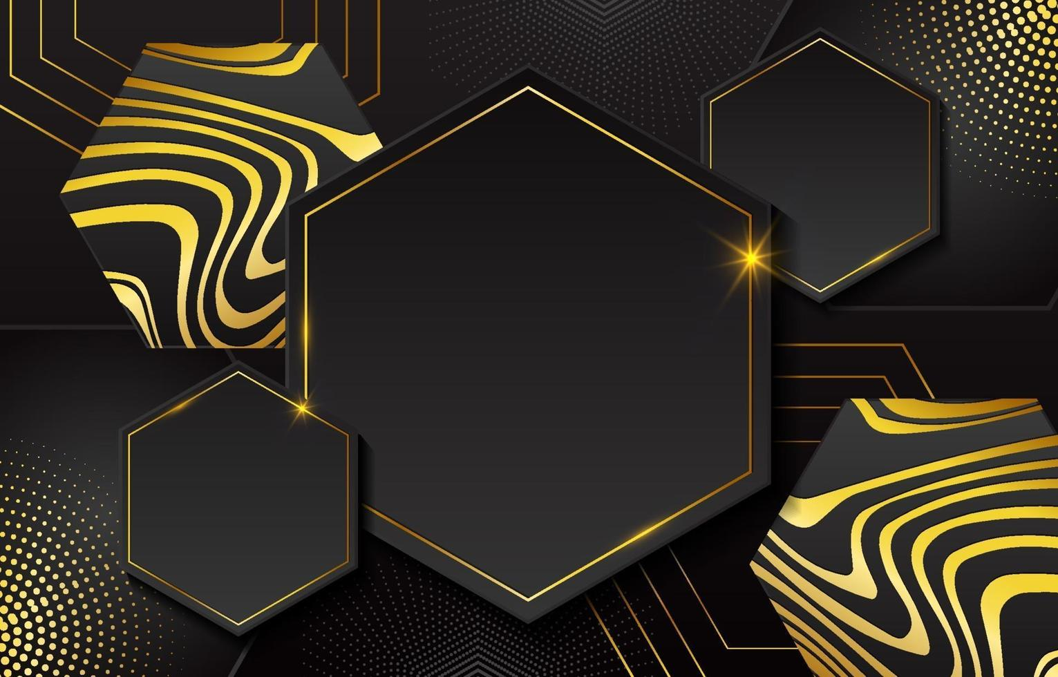 svart guld geometrisk bakgrund vektor