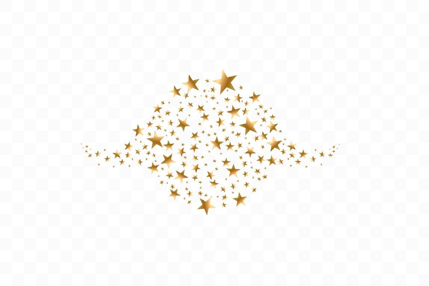 gyllene stjärnor i cirkel vektorillustration. platt ikon stjärna ram symbol vektor