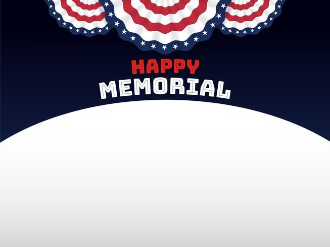 Amerikansk stil bakgrund för minnesdagen vektor