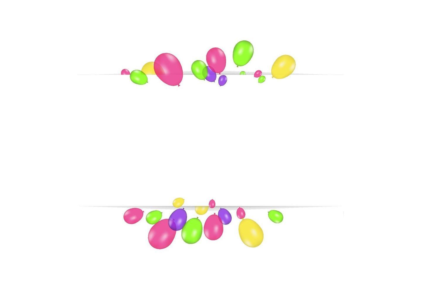 färgkomposition av realistiska vektorballonger isolerad på transparent bakgrund. ballonger isolerade. för födelsedag gratulationskort eller andra mönster vektor