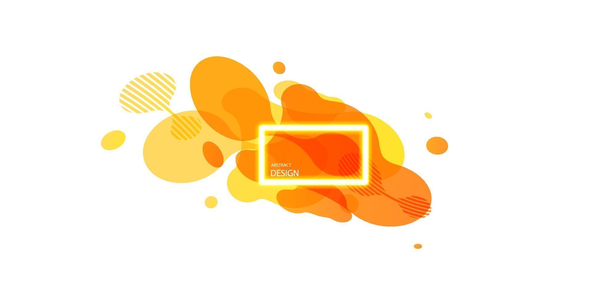 abstrakta geometriska former. flytande gradient banners isolerad på vit bakgrund. flytande vektor bakgrund. gradient geometriska banners med flytande flytande former. dynamisk flytande design för logotyp, flygblad eller presentation.