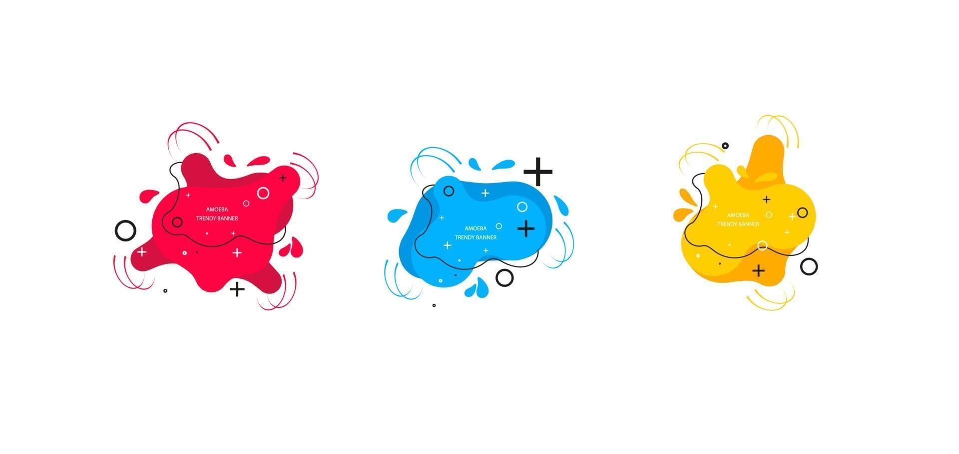 modern uppsättning abstrakta banners. mall redo för användning i webb- eller utskriftsdesign. vektor ljusa mall banners.