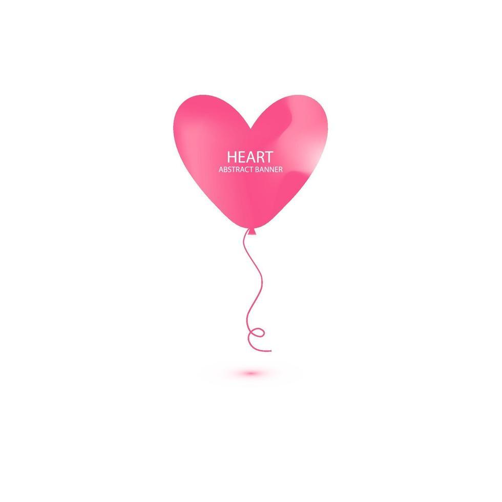 hjärta ballong abstrakt banner. organisk eller flytande form med pastellfärgad neonfärg. användbar för webb, sociala medier, tryck, banner, bakgrund, bakgrundsmall. Alla hjärtans dag firande 6 vektor