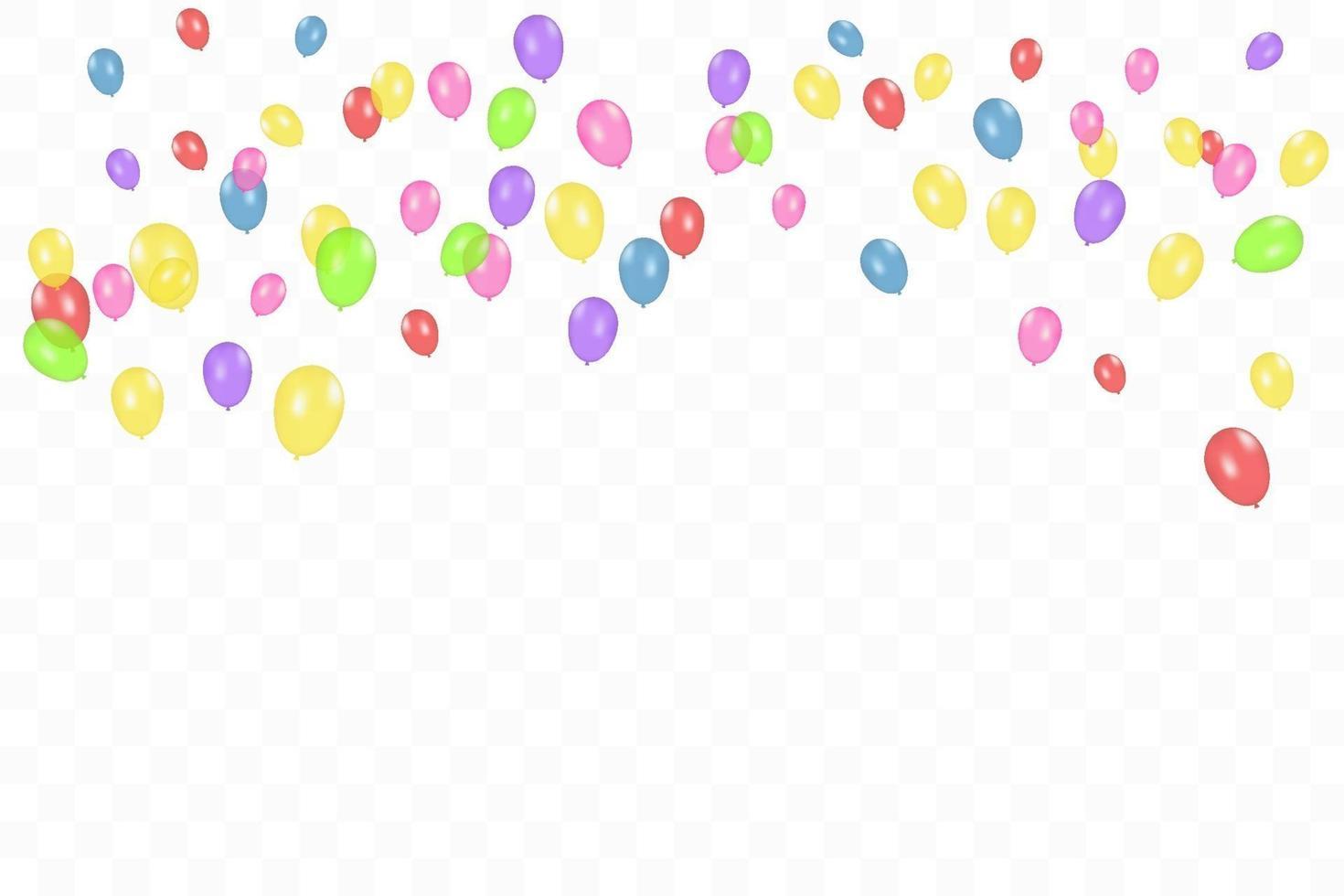 färg sammansättning av realistiska vektor ballonger isolerade. ballonger isolerade. för födelsedag gratulationskort eller andra mönster