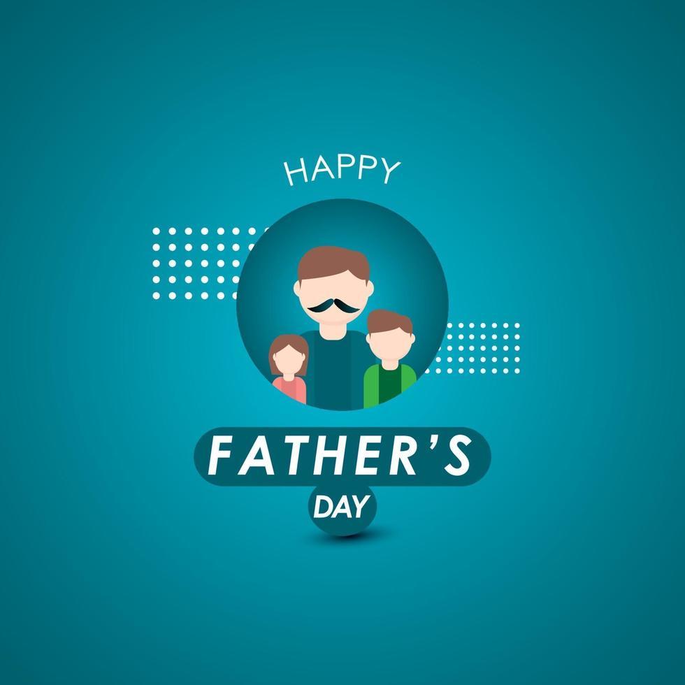 glad fars dag firande vektor mall design illustration