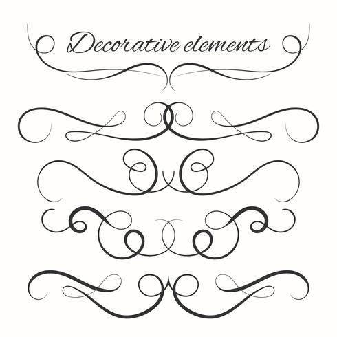 Handdragen delare satte. Dekorativa gränser uppsättning. Dekorativa dekorativa element vektor