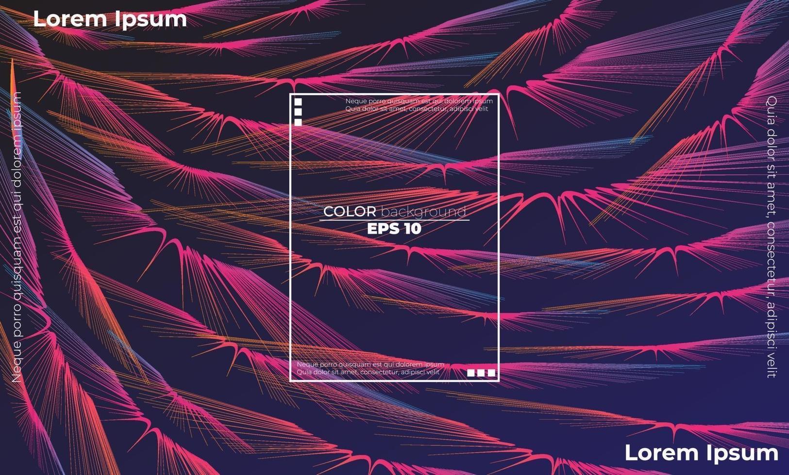 modern linje vågkurva abstrakt presentation bakgrund vektor