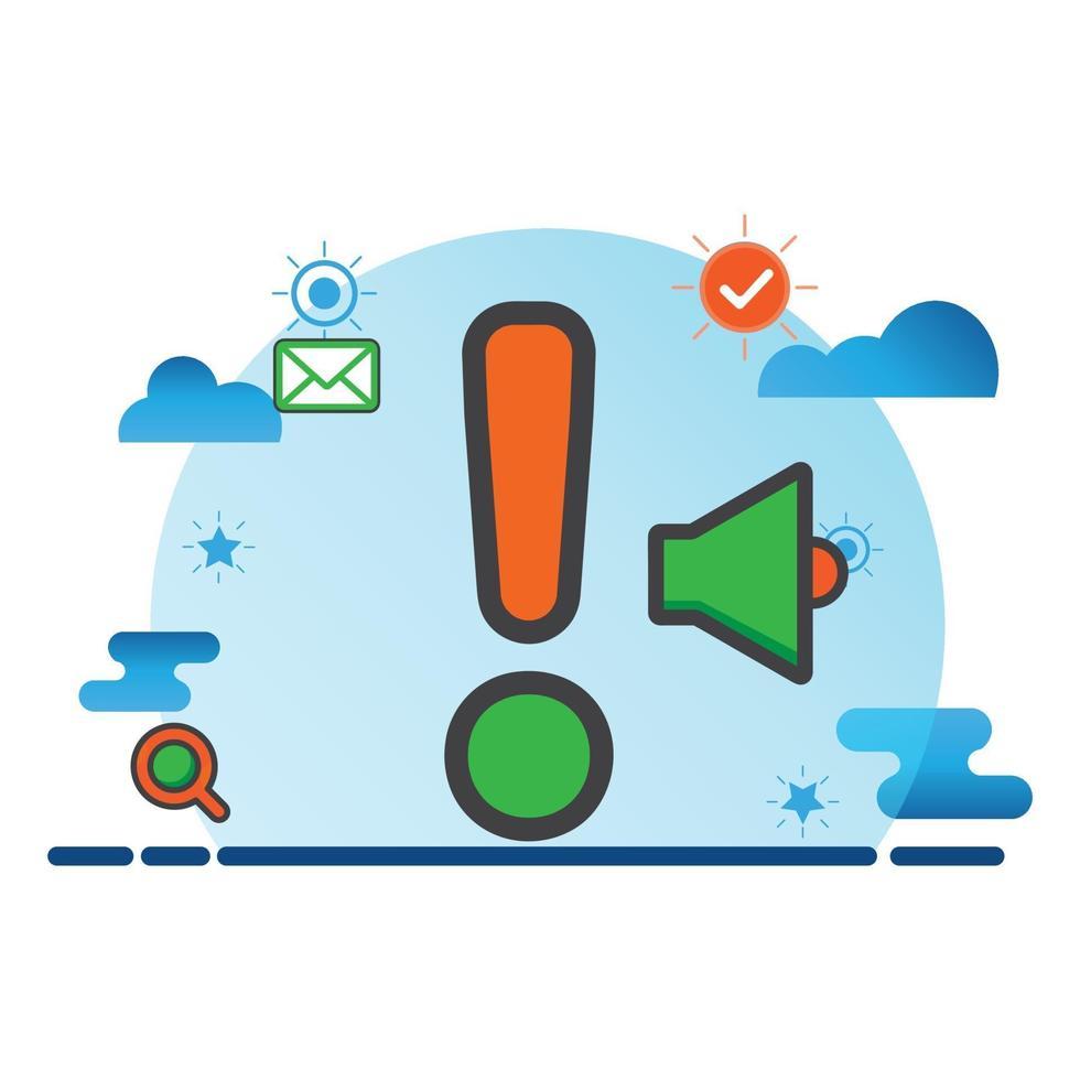 varningsmärke illustration. platt vektor ikon