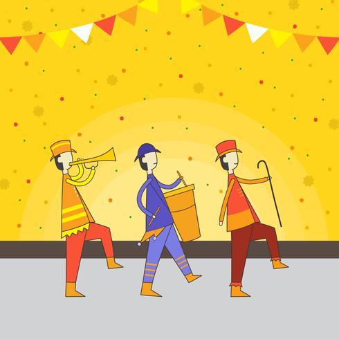 Parade Festival-Vektor-Illustration vektor
