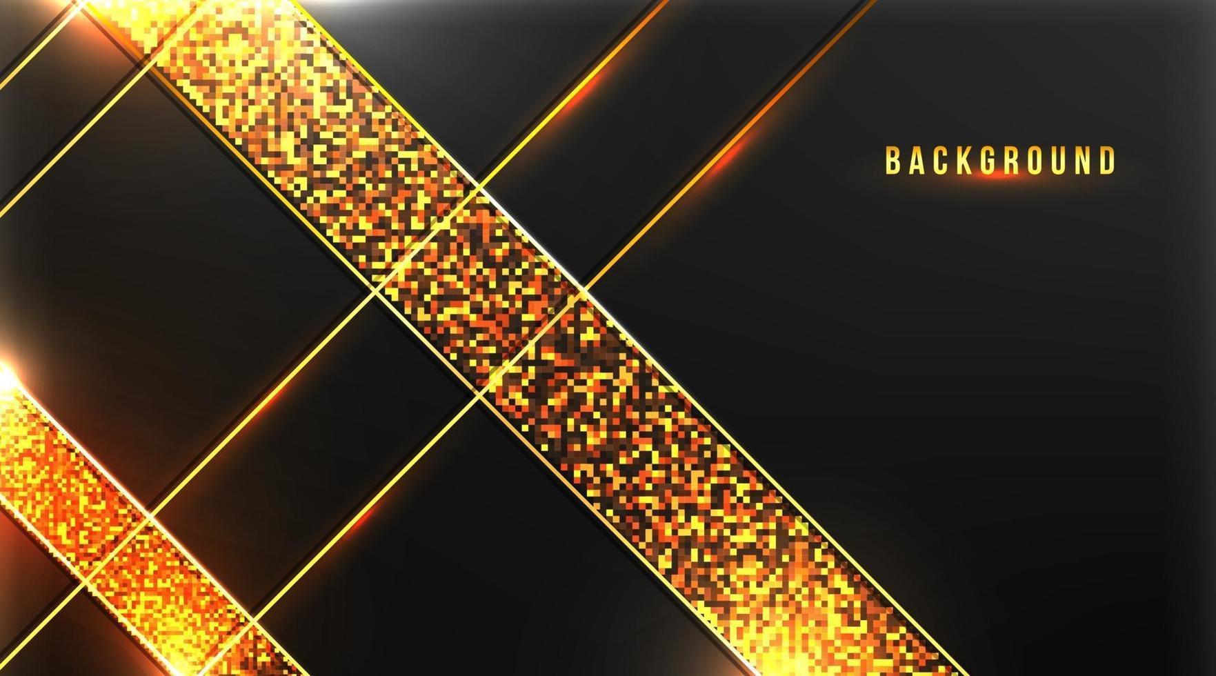 abstrakter Premiumhintergrund mit Gold auf dunklem Hintergrundvektorillustration vektor