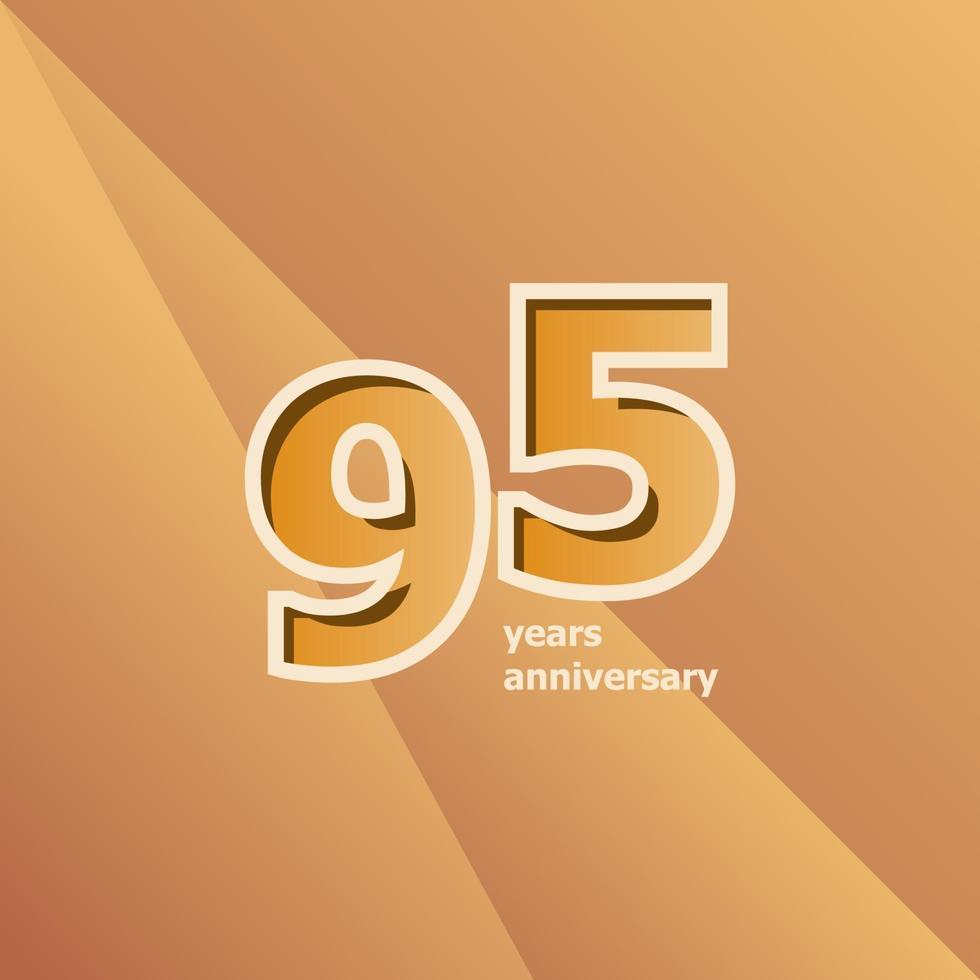 95 års jubileumsvektor mall design illustration vektor