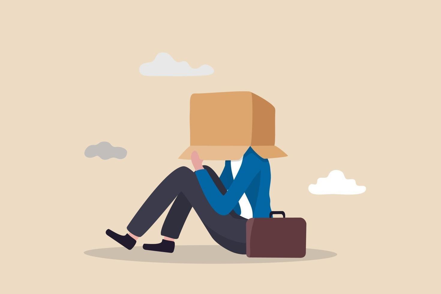 affärsfel, arbetsfel eller olycka och otur, konkurs eller misslyckande entreprenörskoncept vektor