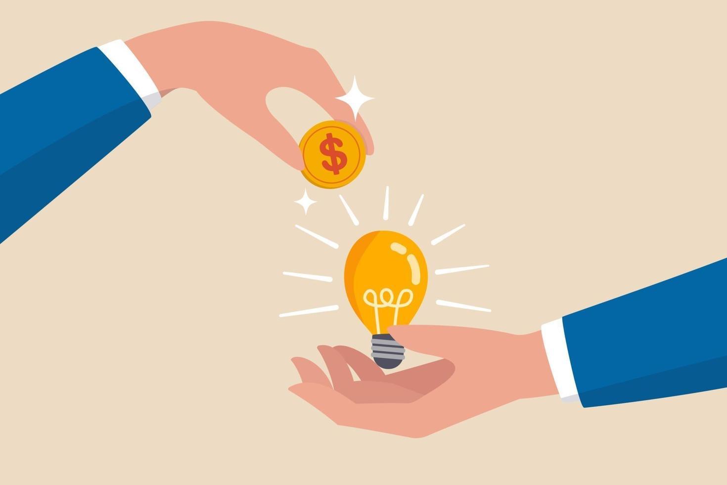 publikfinansiering, nya affärer eller starta upp företag för att få pengar eller riskkapital för att stödja eller sponsra affärsidé vektor