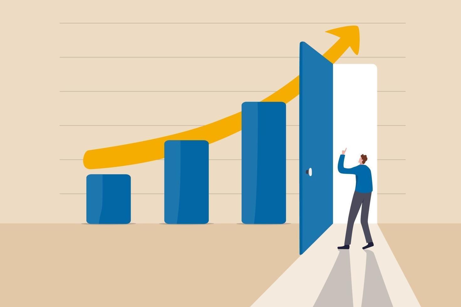 affärssucceshemlighet, idé till växande verksamhet och uppnå målkoncept vektor