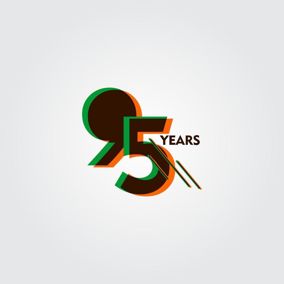 95 års jubileum firande vektor mall design illustration