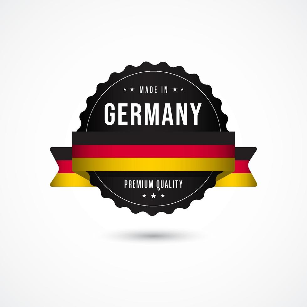 Made in Germany Premium-Qualität Etikett Abzeichen Vektor Vorlage Design Illustration