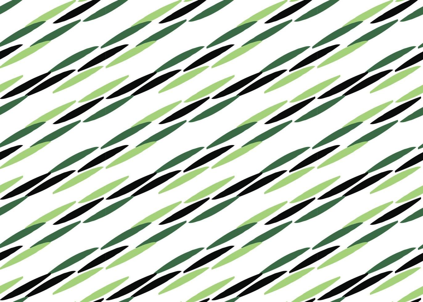 handritad, grön, svart, vit färg linjer sömlösa mönster vektor
