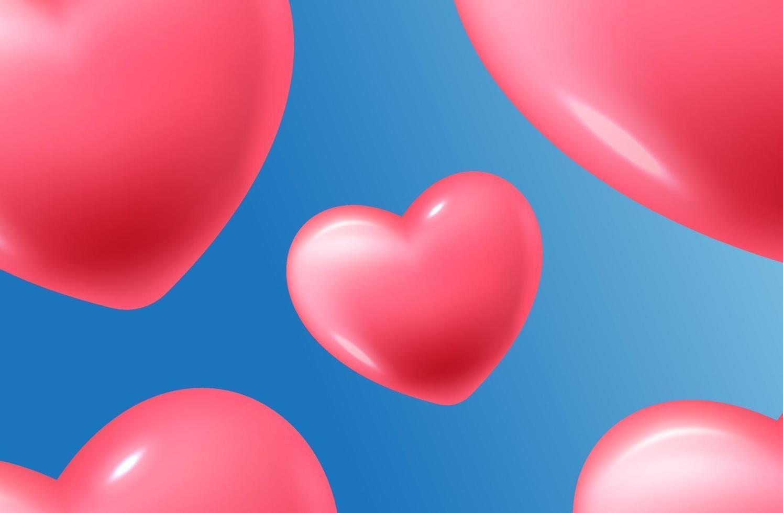 Alles Gute zum Valentinstag mit Herzen und Geschenkkompositionen für trendige Banner, Poster oder Grußkarten vektor