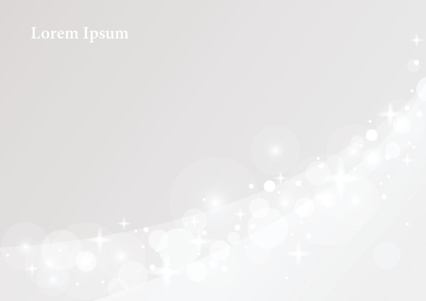 mousserande ljus på en grå bakgrund. enkel mönster formgivningsmall. vektor