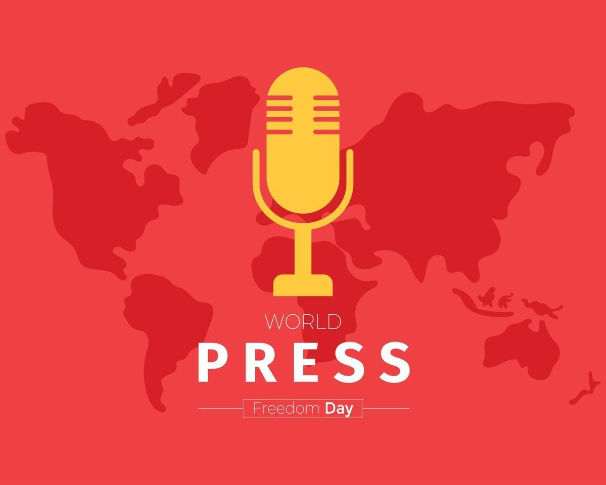 världens pressdag med världskartavektorn vektor
