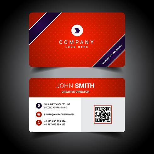 Rött företagsvisitkort vektor