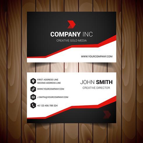 Red Steped Corporate Visitkort vektor