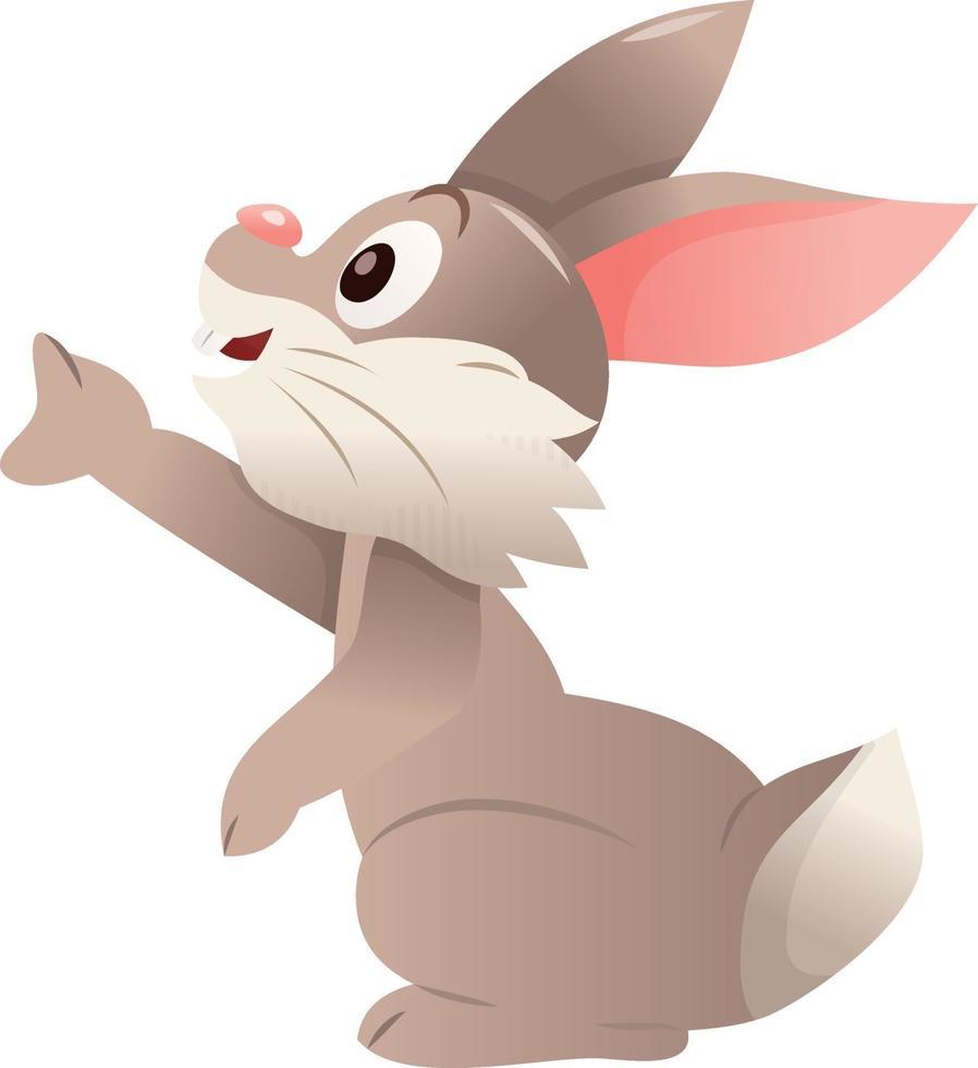 Cartoon niedlichen Hasen Kaninchen Seite erreichen vektor