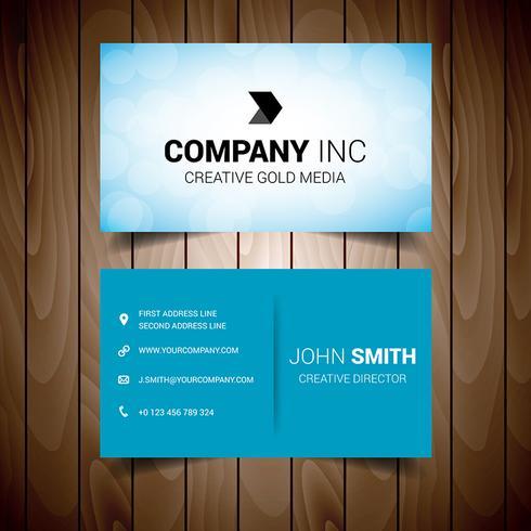 Lätt Blue Business Visitkort vektor