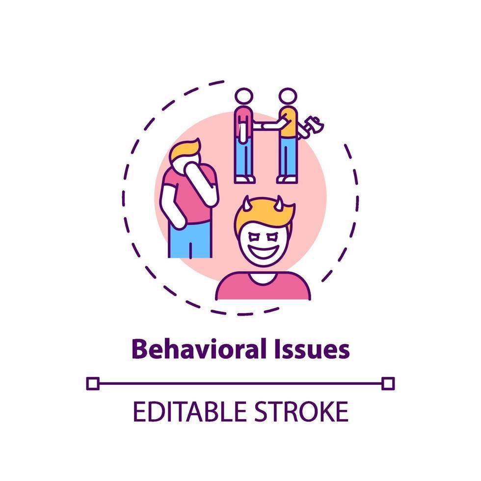 Konzeptkonzept für Verhaltensprobleme vektor