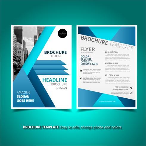 Broschüre Flyer Vorlage vektor