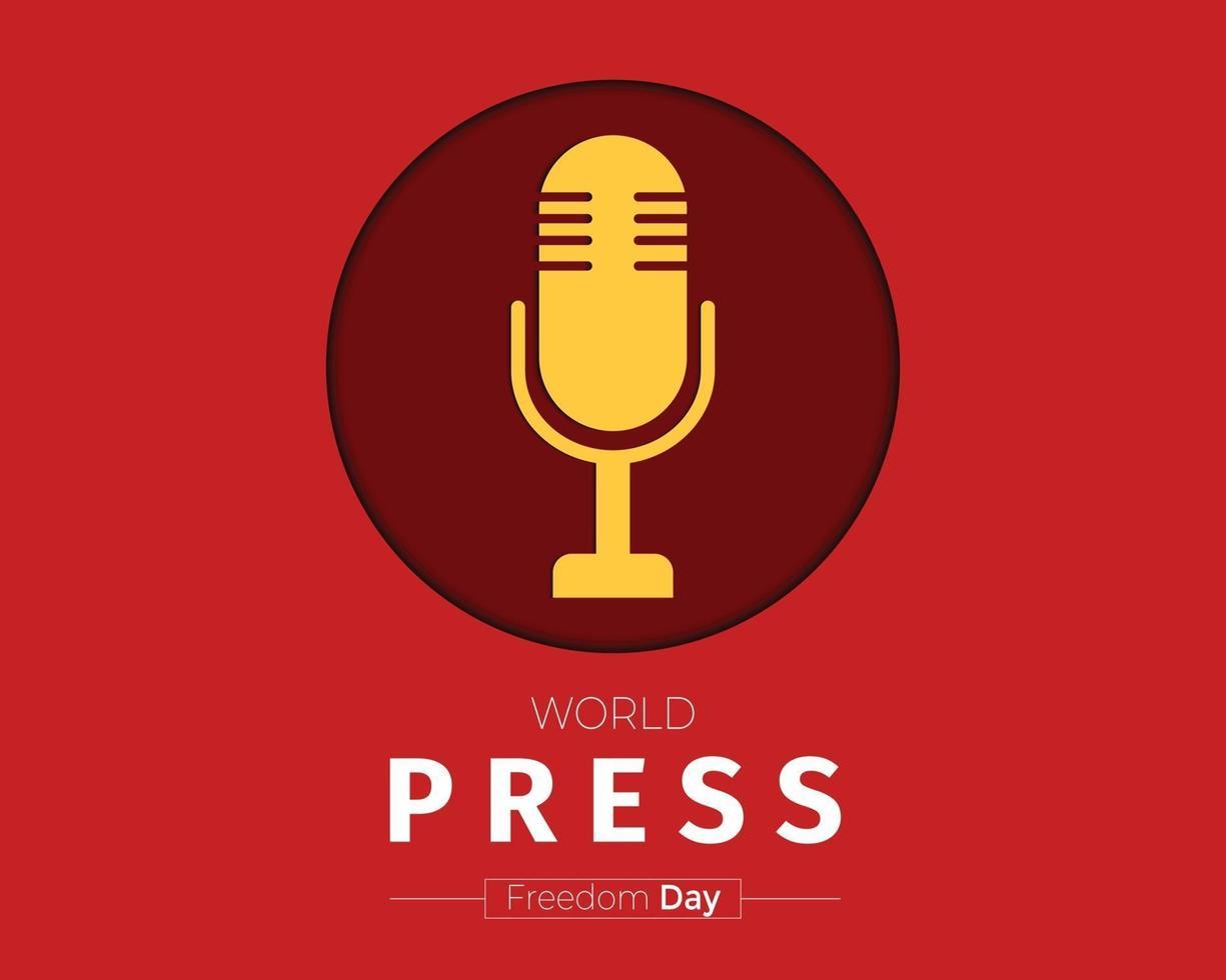 världspress frihetsdag bakgrund vektor