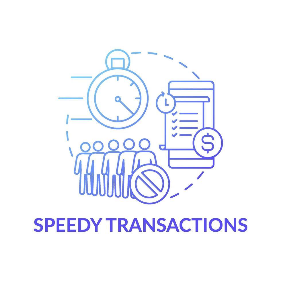 schnelles Transaktionskonzeptsymbol vektor