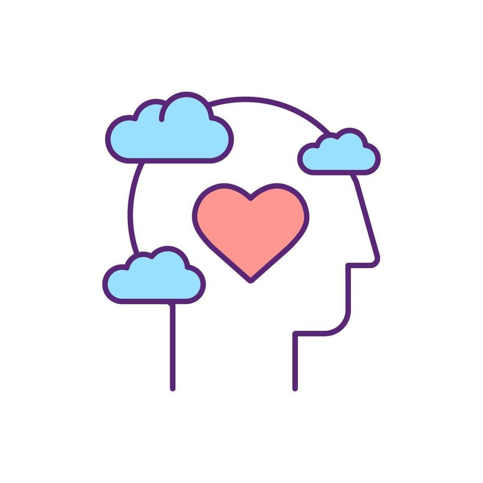 mental hälsa rgb färgikon vektor