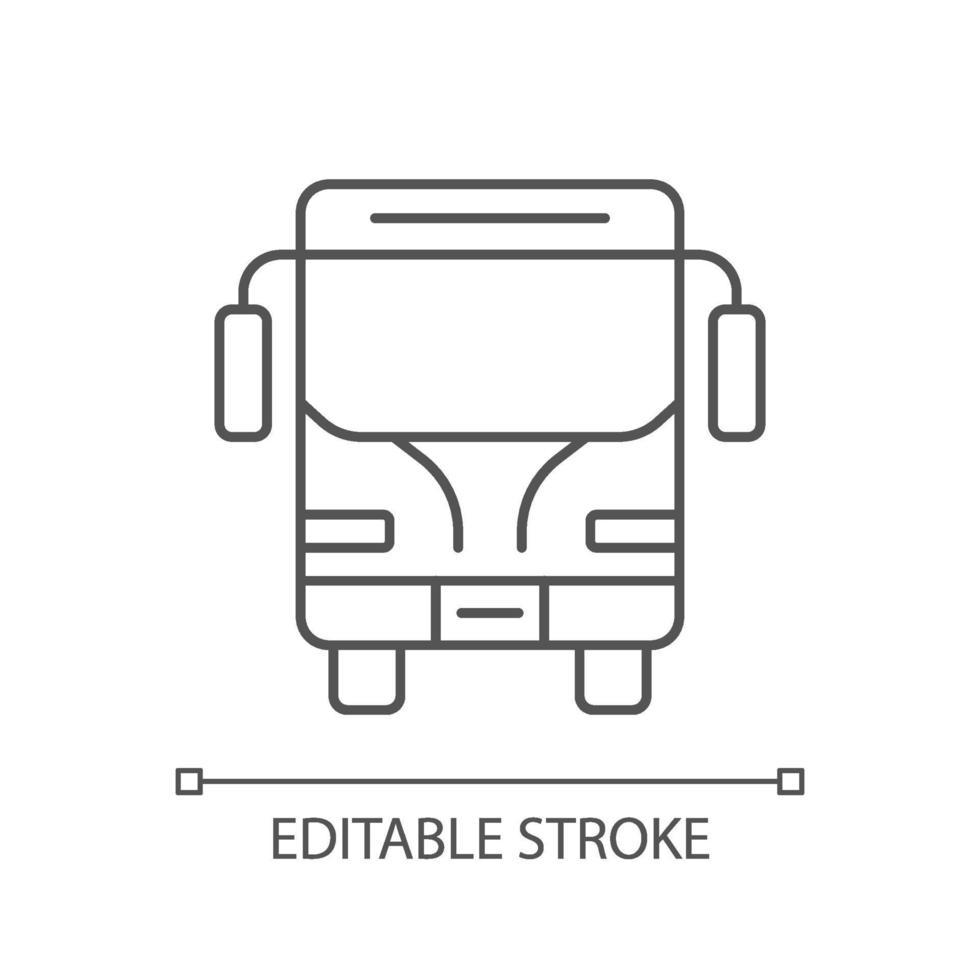 charter linjär ikon vektor