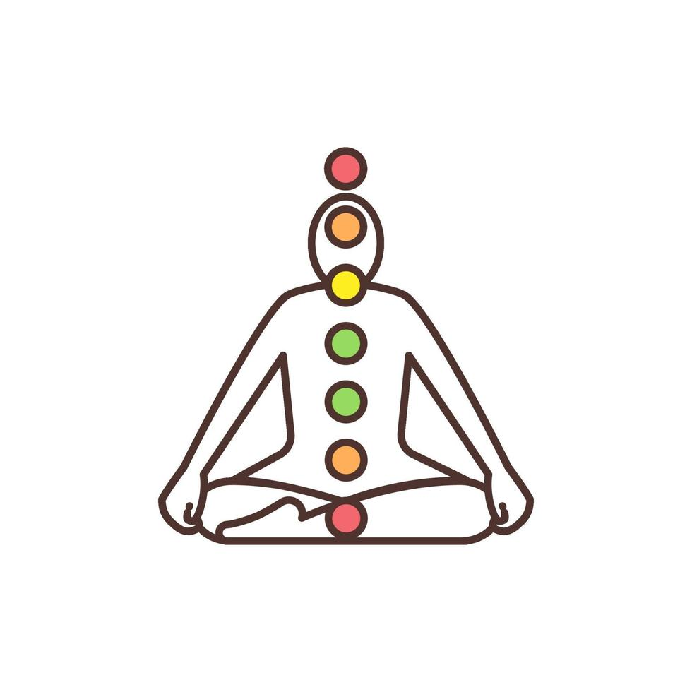 chakrasystem rgb färgikon vektor